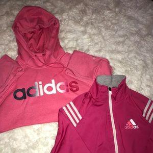 Adidas jacket and hoodie bundle